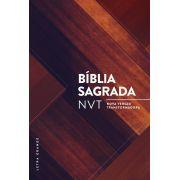 Bíblia NVT Madeira Triângulos