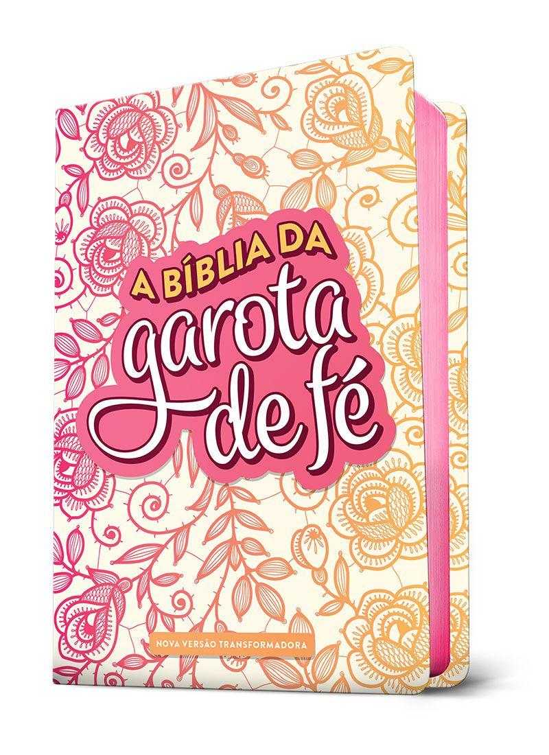 A Bíblia da Garota de Fé (NVT) - Rosas  - Sankto | Crer para entender