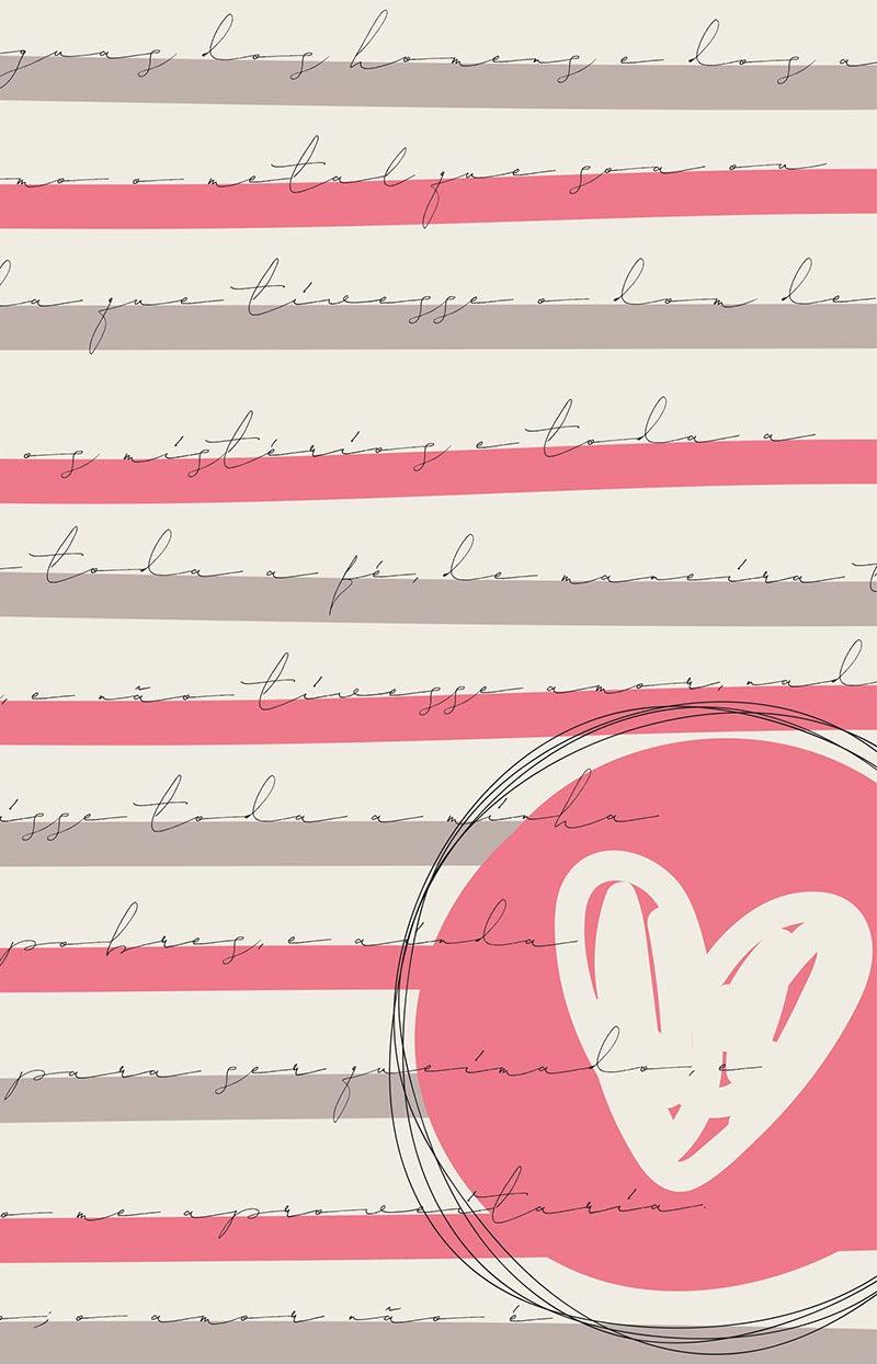 Bíblia ARC Coração Rosa - Letra Normal