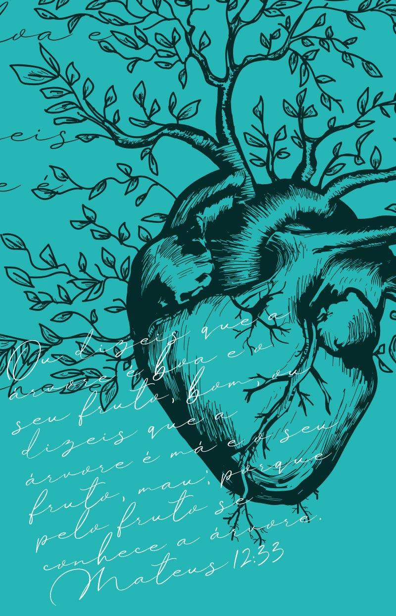 Bíblia ARC Coração Menta - Letra Normal