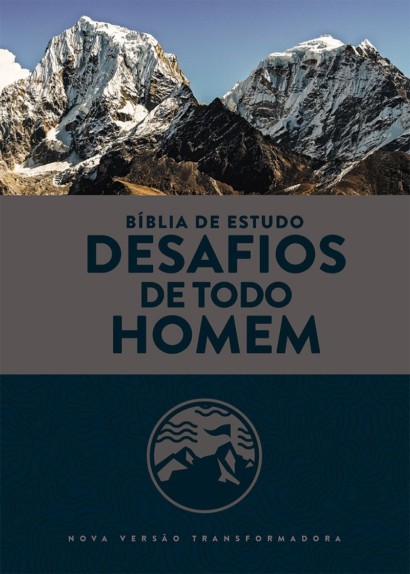 Bíblia de Estudo: Desafios de Todo Homem (NVT) - Capa Azul & Cinza