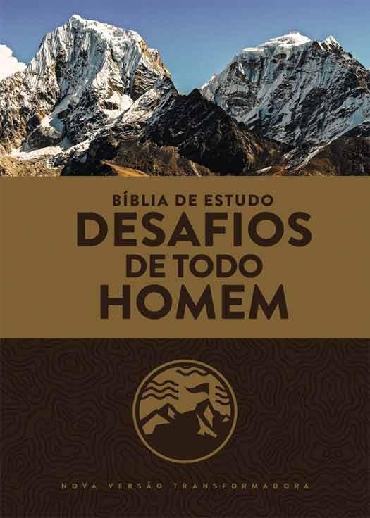 Bíblia de Estudo: Desafios de Todo Homem (NVT) - Capa Marrom  - Sankto | Crer para entender