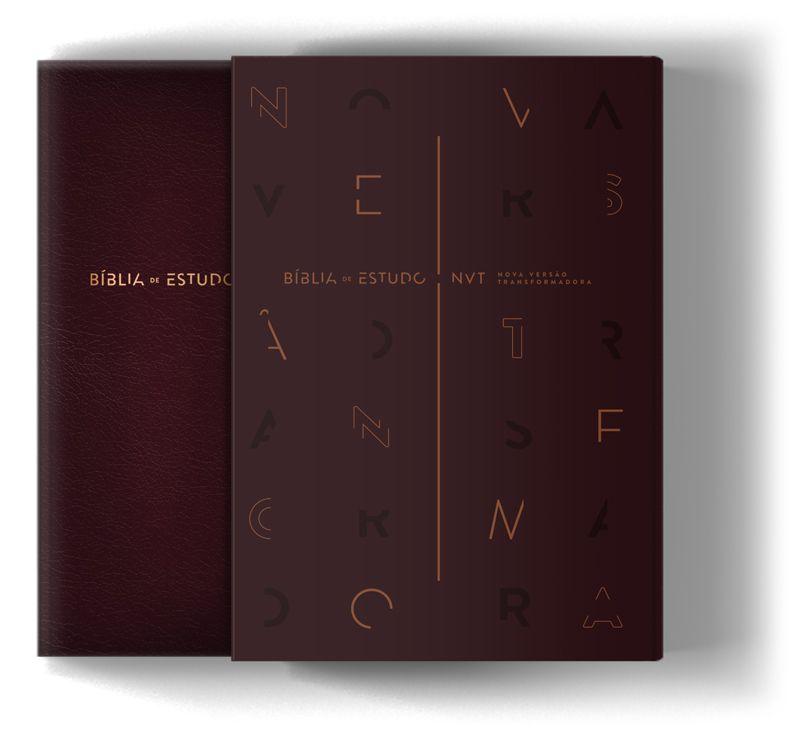 Bíblia de Estudo NVT - Capa Vinho  - Sankto | Crer para entender