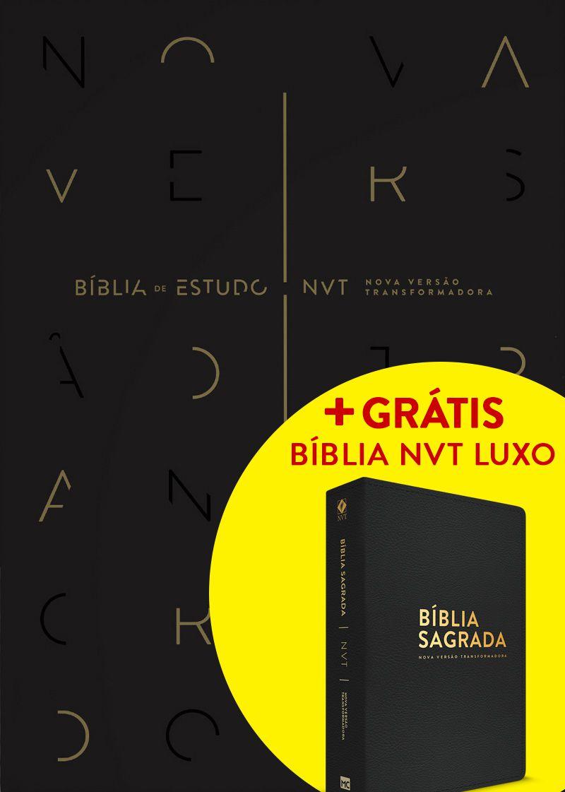 Bíblia de Estudo NVT (Preta) + GRÁTIS: Bíblia NVT Luxo (Preta - Letra Normal)