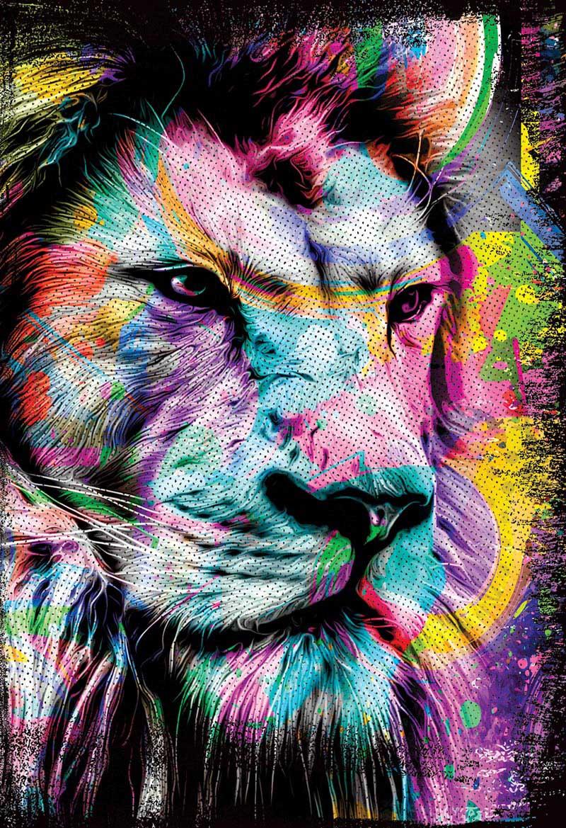 Bíblia NAA Leão Colorido - Letra Grande