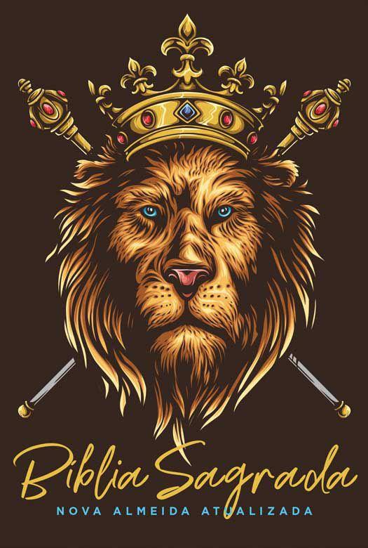 Bíblia NAA Leao Dourado