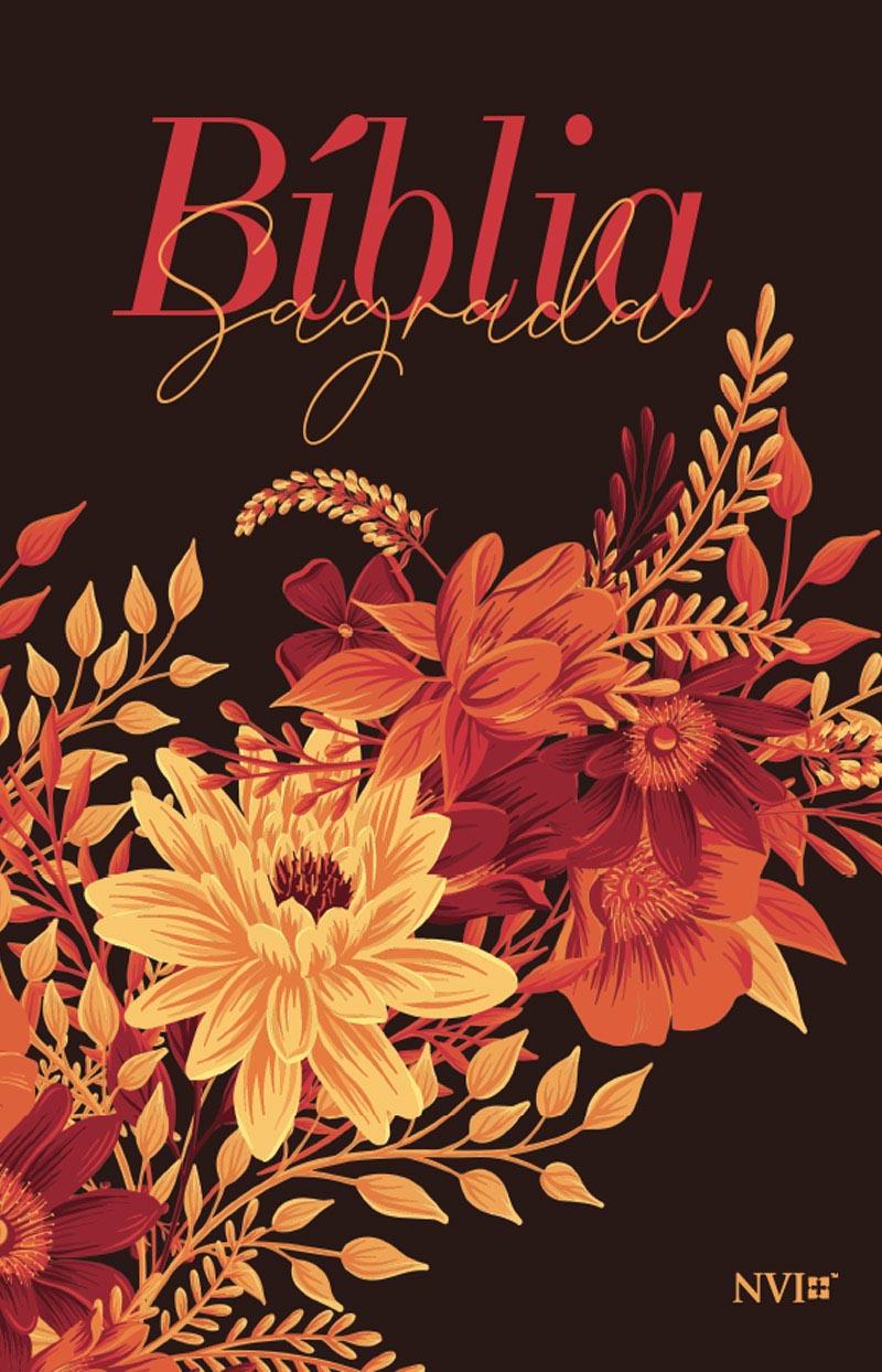 Bíblia NVI Buquê de flores - Luxo Slim