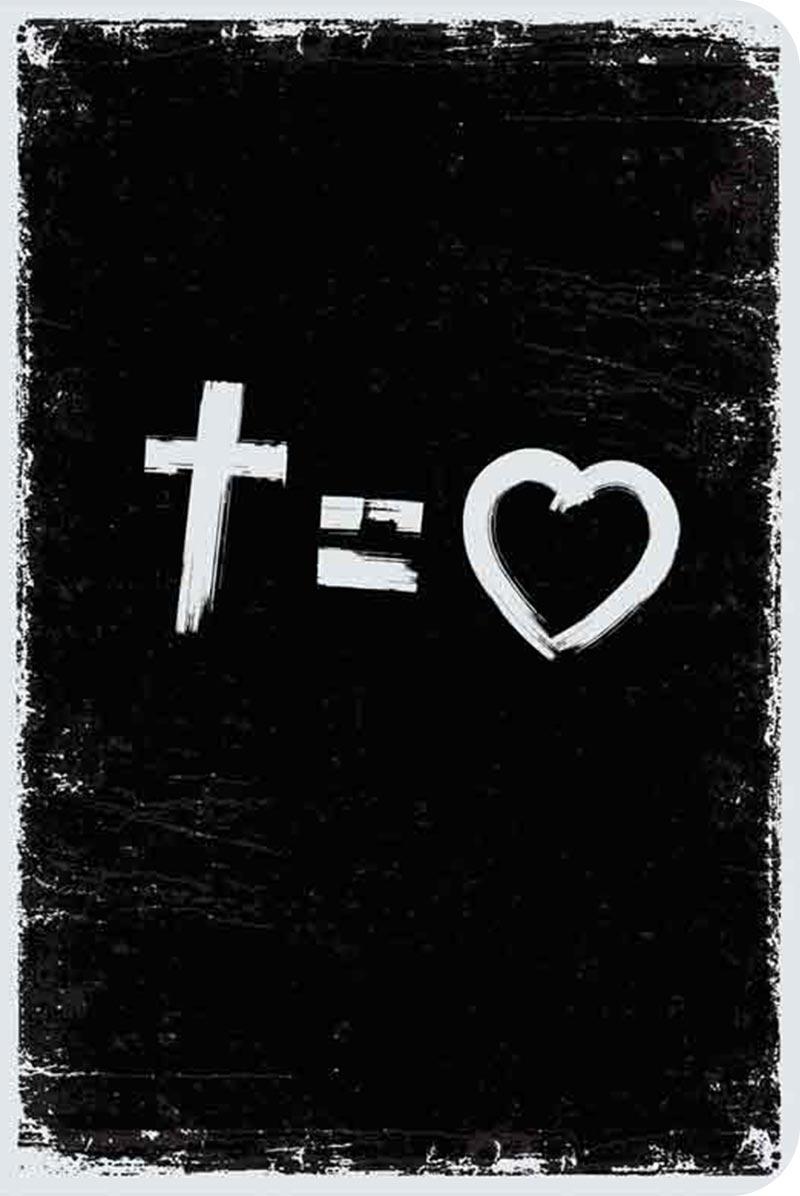 Bíblia NVT 960 Cross equals love B&W