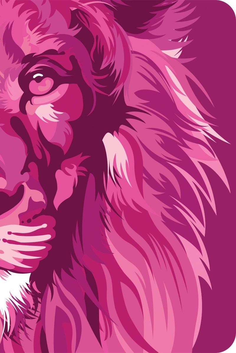 Bíblia NVT 960 Lion Colors Pink