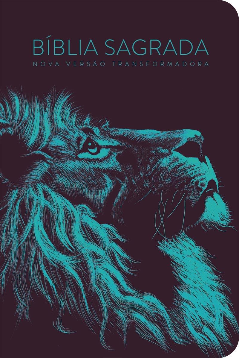Bíblia NVT 960 Lion Head Turquesa