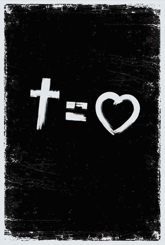 Bíblia NVT Cross Equals Love B&W Letra Normal