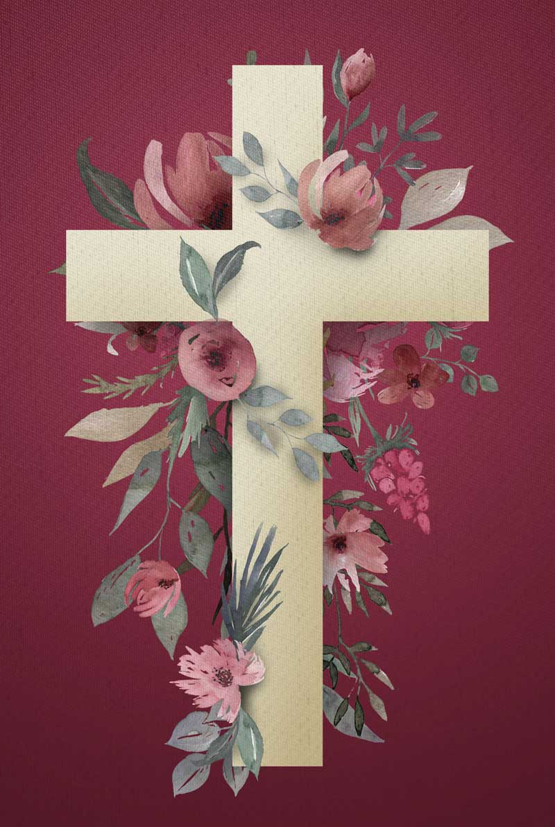 Bíblia NVT Cruz Flores Letra Normal