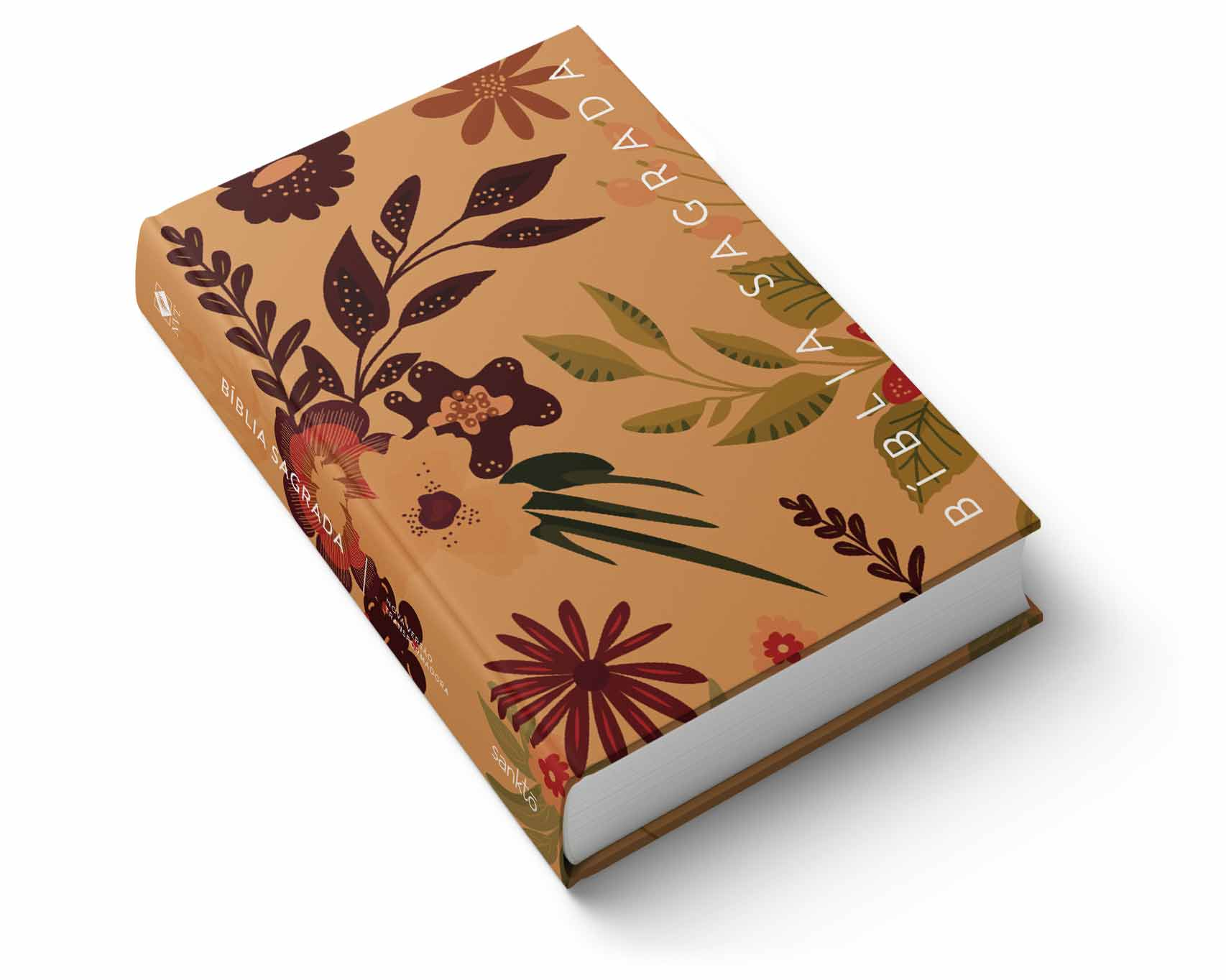 Bíblia NVT Flores de Outono  - Sankto | Crer para entender