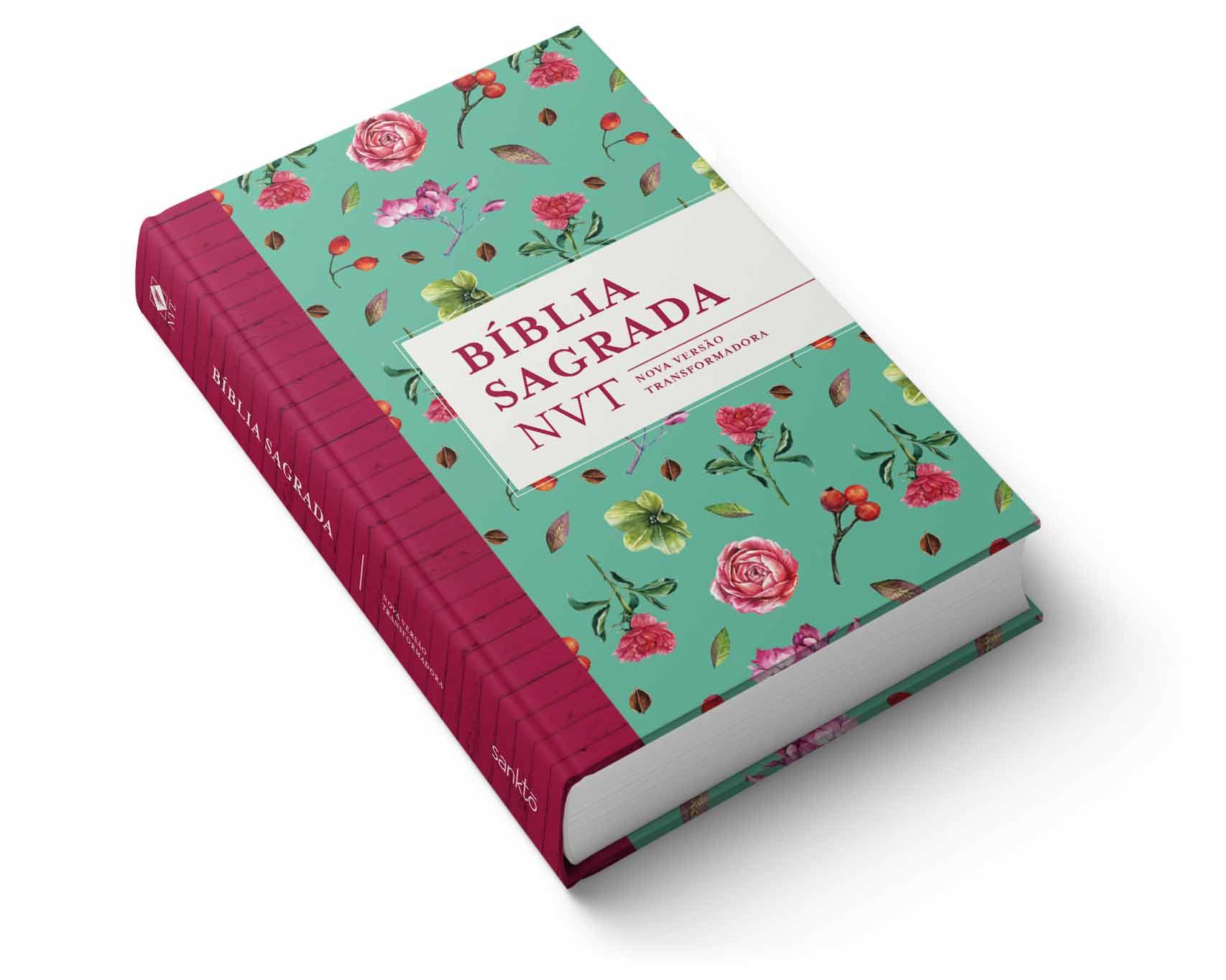 Bíblia NVT Flores Tiffany  - Sankto | Crer para entender