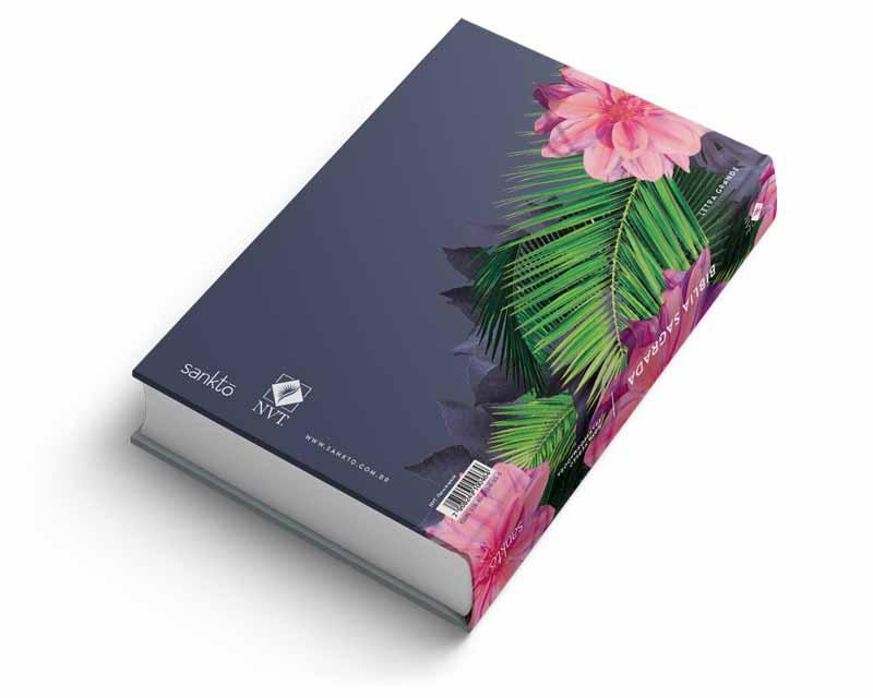 Bíblia NVT Flores Tropicais Cristo Letra Grande  - Sankto | Crer para entender