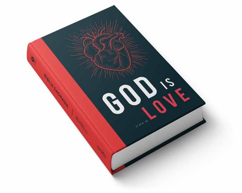 Bíblia NVT God is Love  - Sankto | Crer para entender
