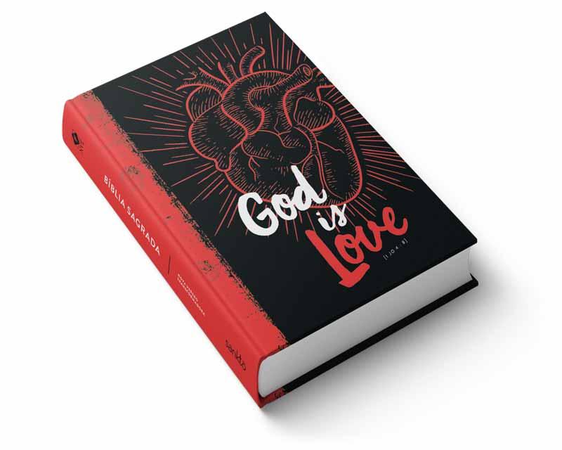Bíblia NVT God is Love 2.0 Red Letra Normal  - Sankto | Crer para entender