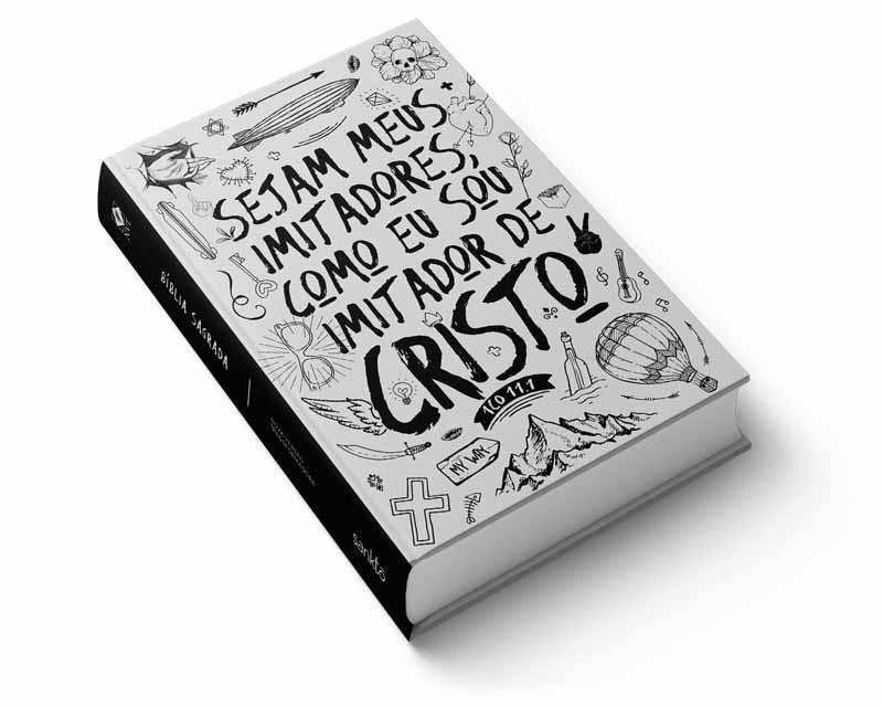 Bíblia NVT Imitadores de Cristo - Preto & Branco  - Sankto | Crer para entender