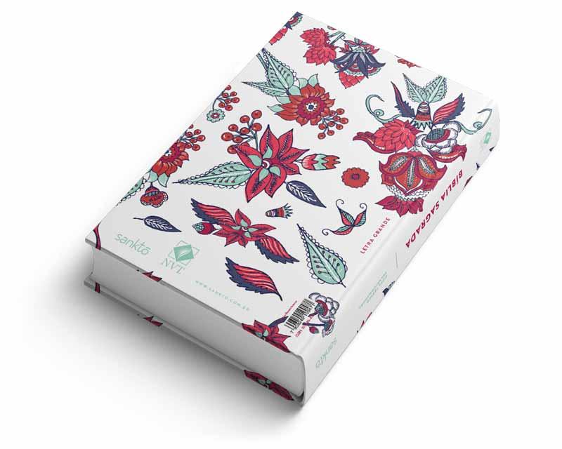 Bíblia NVT Indian Flowers (Branca)  - Sankto | Crer para entender