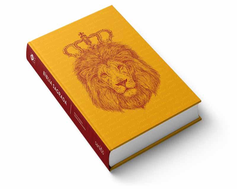 Bíblia NVT Jesus o Leão de Judá Letra Normal  - Sankto   Crer para entender