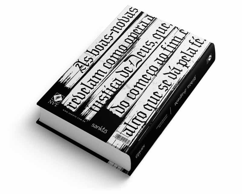 Bíblia NVT Justificados - Preta  - Sankto | Crer para entender