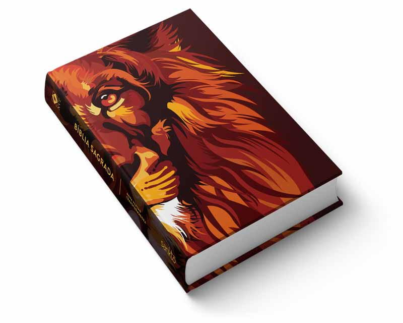 Bíblia NVT Lion Colors Fire Letra Normal  - Sankto | Crer para entender