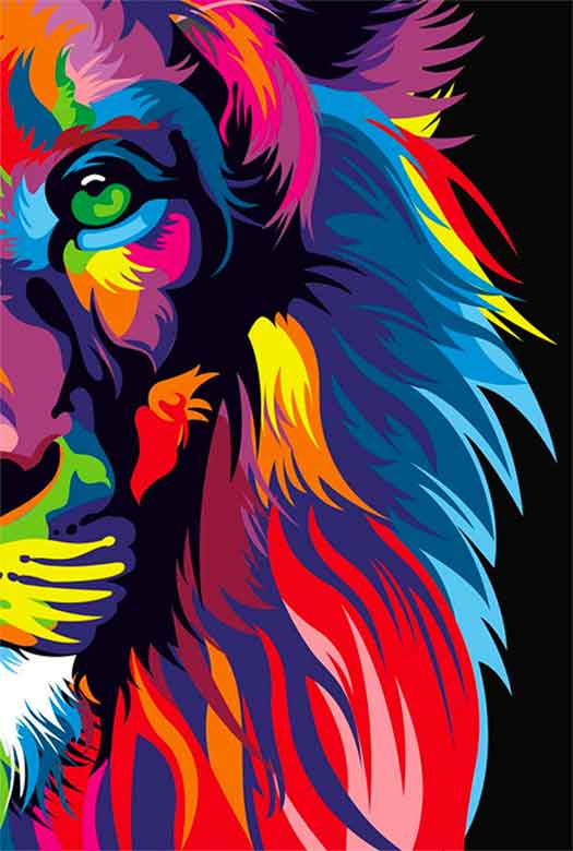Bíblia NVT Lion Colors Letra Grande  - Sankto | Crer para entender