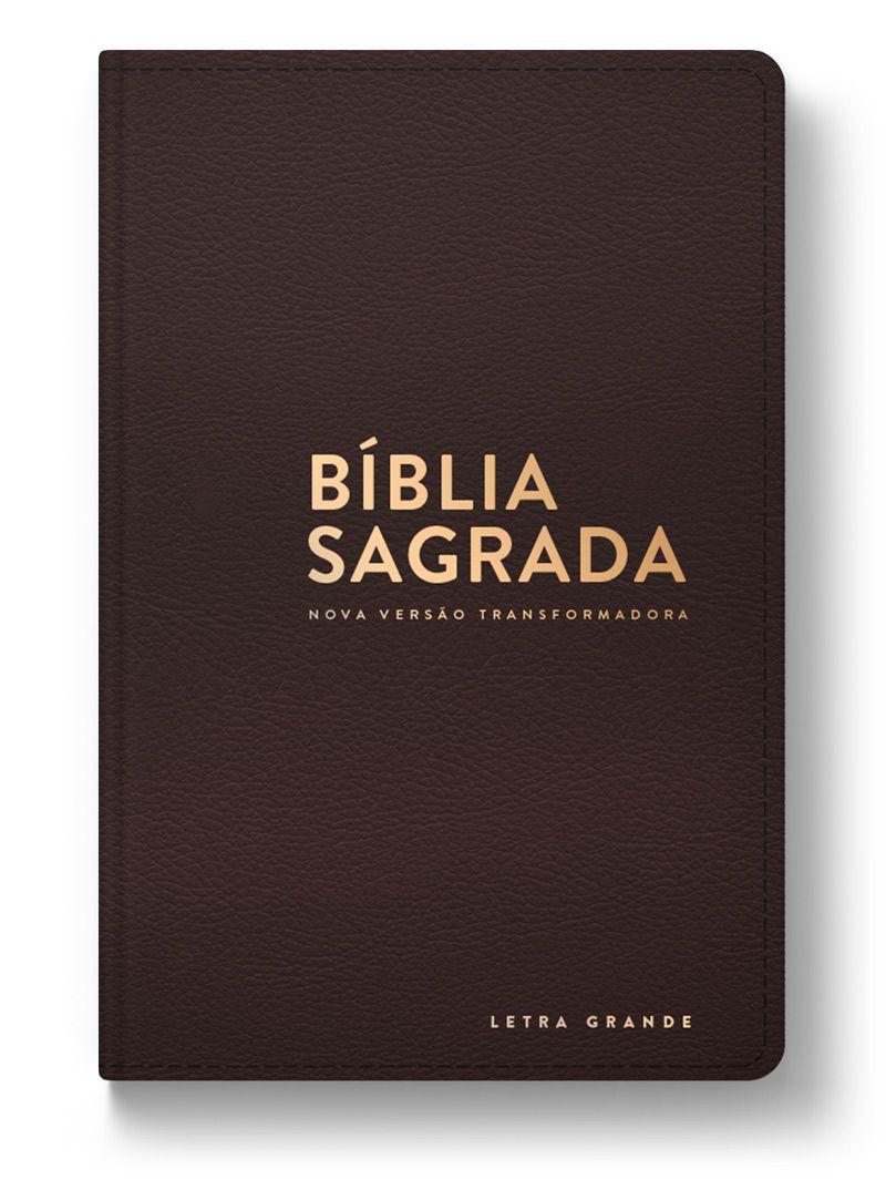 Bíblia NVT Luxo (Letra Grande) - Capa Marrom  - Sua Bíblia NVT