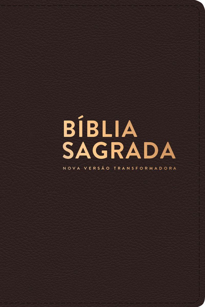 Bíblia NVT Luxo (Letra Normal) - Capa Marrom  - Sankto | Crer para entender