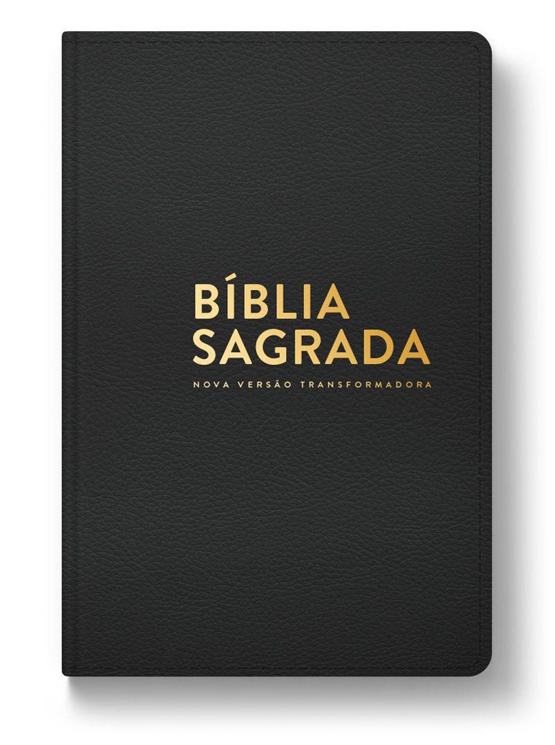 Bíblia NVT Luxo (Letra Normal) - Capa Preta  - Sankto | Crer para entender