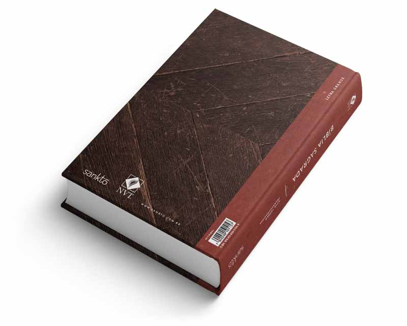 Bíblia NVT Madeira  - Sankto   Crer para entender