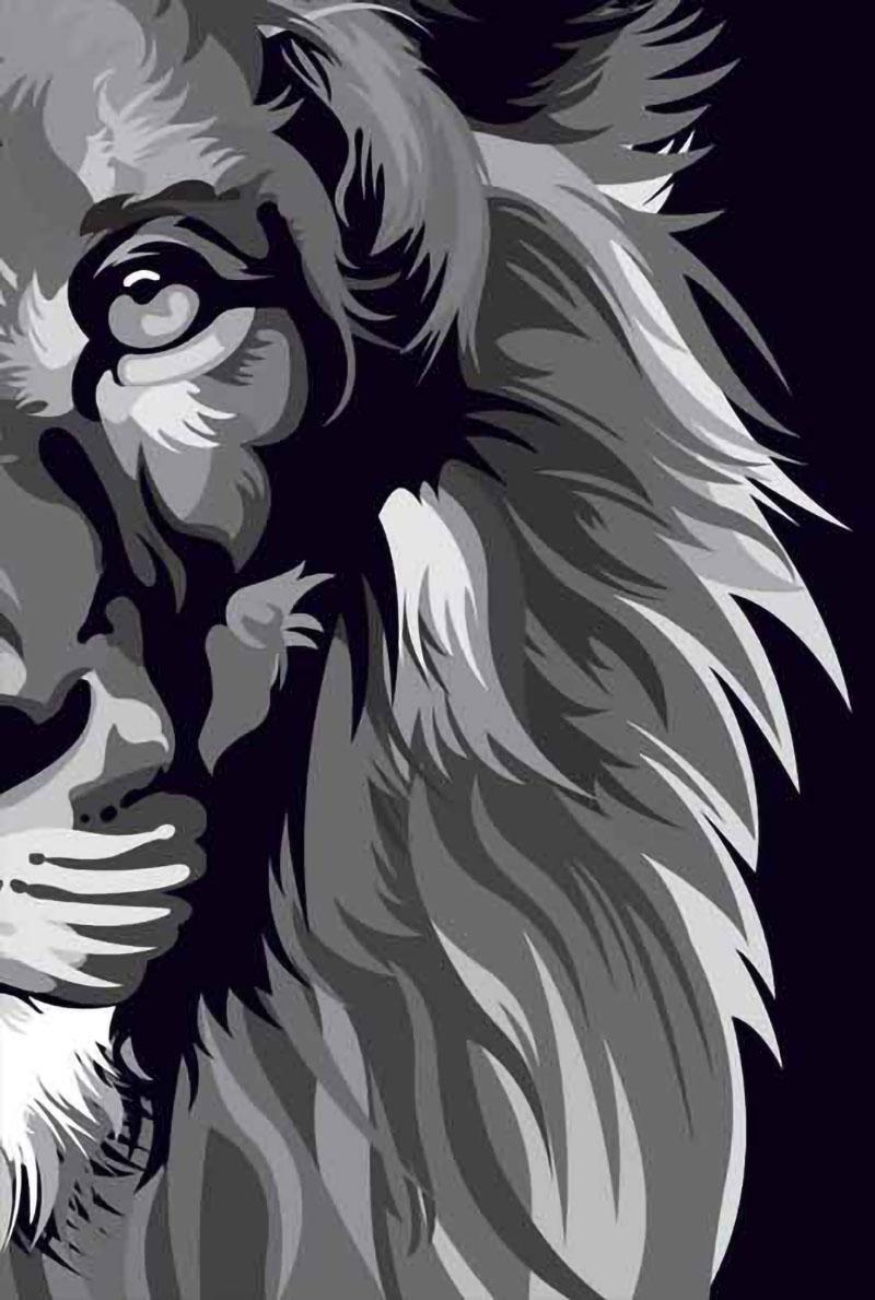 Bíblia NVT POP Lion Colors Black & White