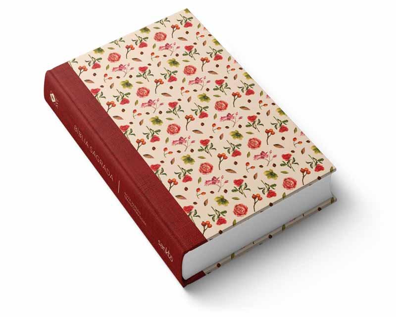 Bíblia NVT Rosas Vermelhas  - Sankto | Crer para entender
