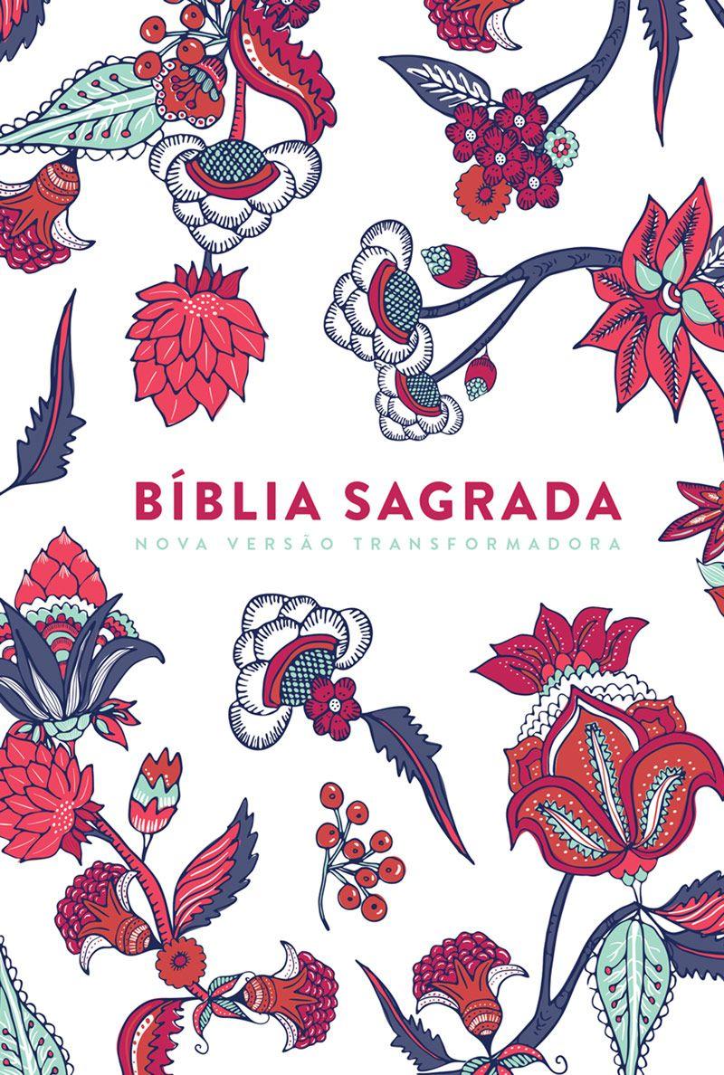 Bíblia NVT Indian Flowers (Branca)