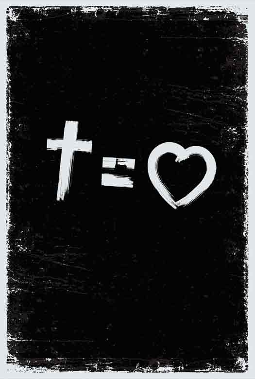 Bíblia NVT Cross Equals Love  B&W Letra Grande