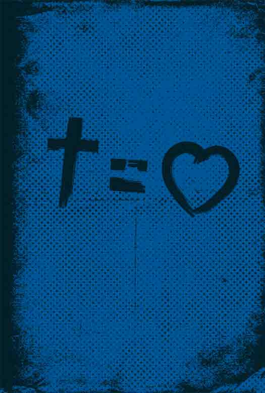 Bíblia NVT Cross Equals Love Blue Letra Normal