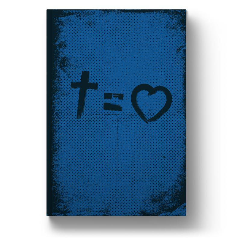 Bíblia NVT Cross Equals Love Blue Letra Normal  - Sankto | Crer para entender
