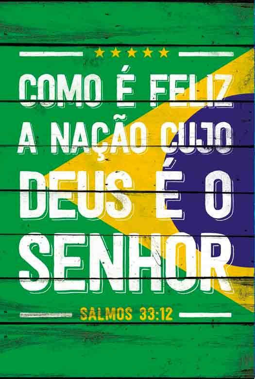Bíblia NVT Feliz a Nação - Verde e Amarelo