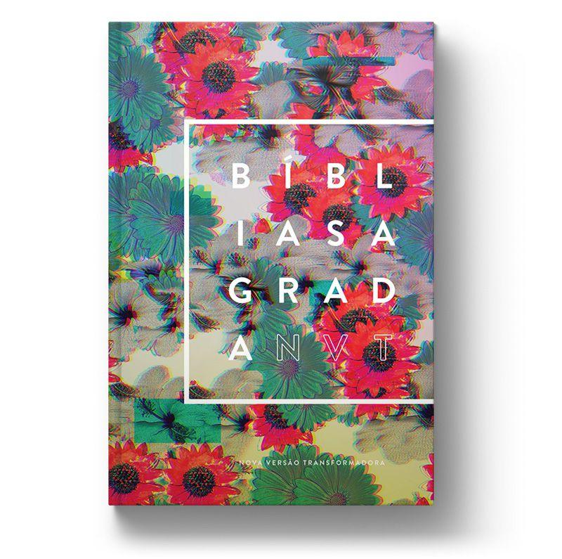 Bíblia NVT Flowers Glitch  - Sankto | Crer para entender