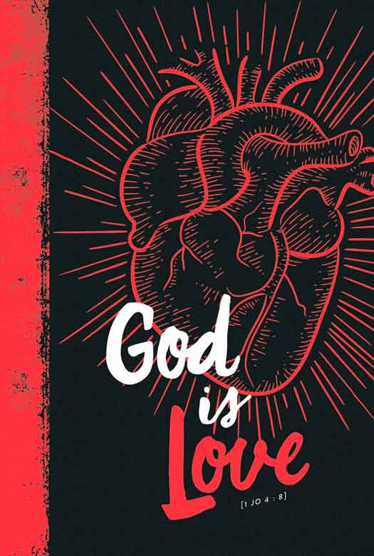 Bíblia NVT God is Love 2.0 Red Letra Normal