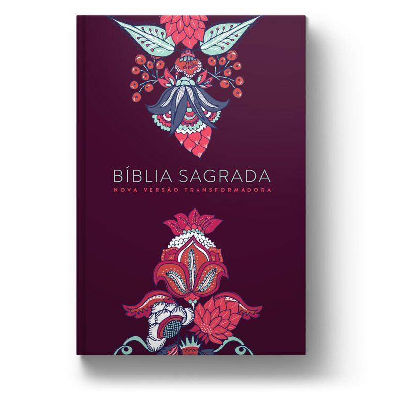 Bíblia NVT Indian Flowers Vinho  - Sankto | Crer para entender