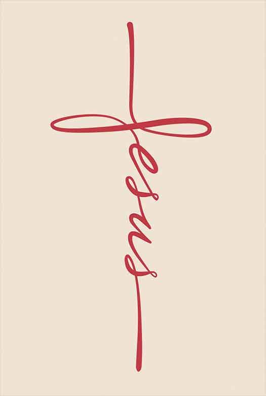 Bíblia NVT Jesus Caligrafia - Vermelho