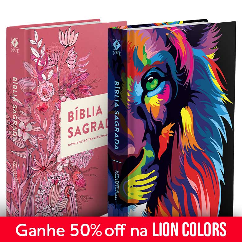 Kit Bíblia NVT Lion Colors + Buquê de flores (Letra Normal)