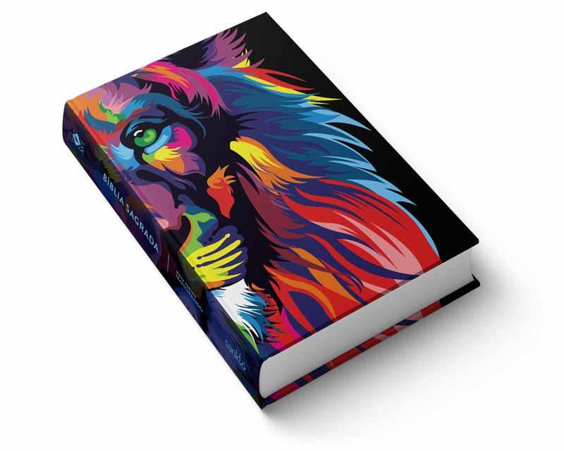 Kit Bíblia NVT Lion Colors + Feliz a nação (Letra Normal)  - Sankto | Crer para entender