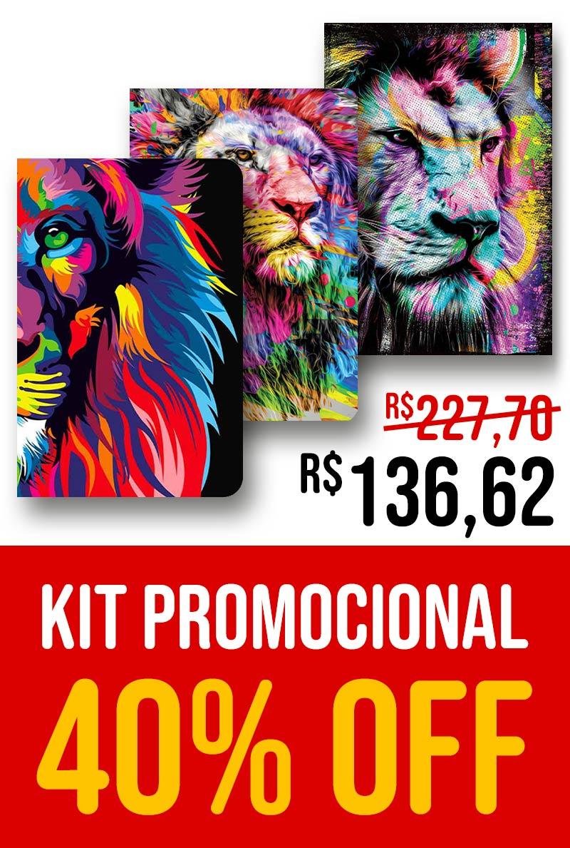 Kit Leão Colorido