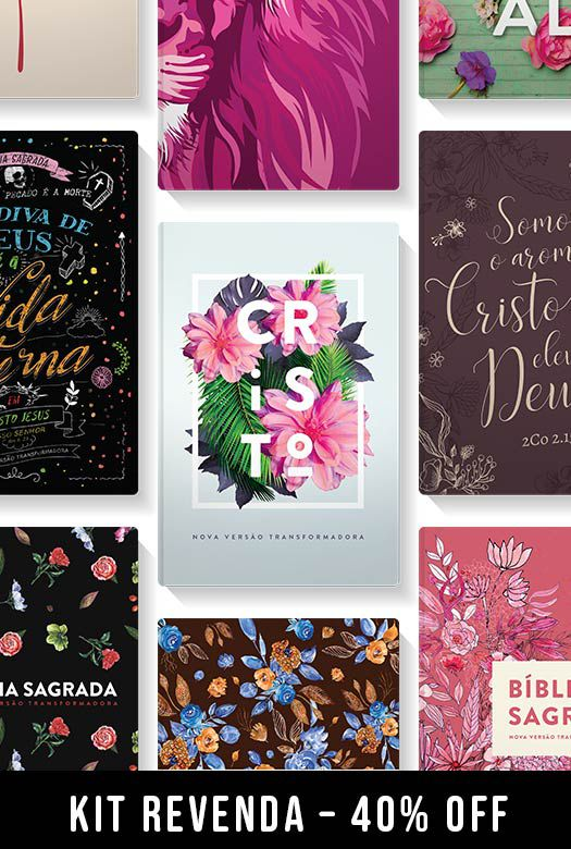 Kit REVENDA - Femininas - 10 Bíblias NVT - 40% off