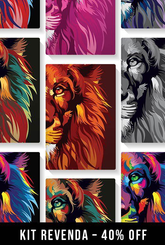 Kit REVENDA - Lion Colors - 10 Bíblias NVT - 40% off