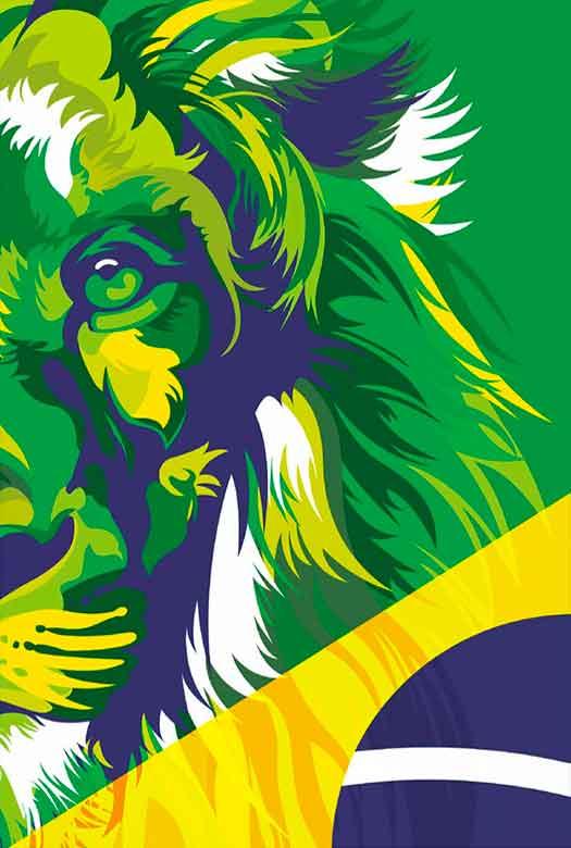 Bíblia NVT Lion Colors - Brazil  - Sua Bíblia NVT