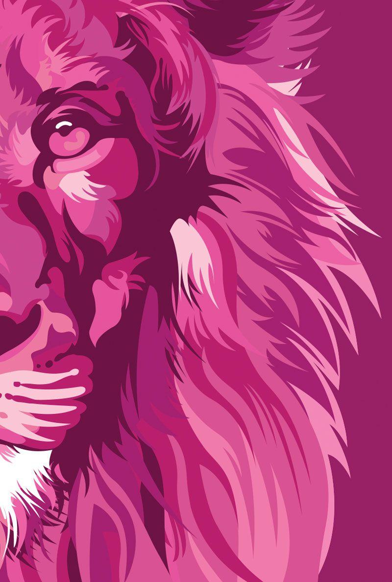 Bíblia NVT Lion Colors Pink Letra Grande