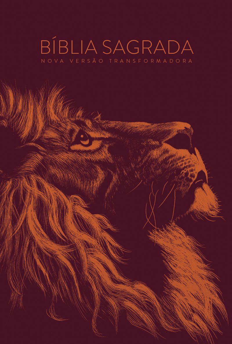 Bíblia NVT Lion Head Cobre Letra Grande